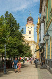 Kossuth Ter Square In Debrecen Royalty Free Stock Photography
