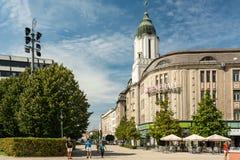 Kossuth Ter Square In Debrecen Royalty Free Stock Photos