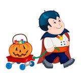 Kostüm Draculas Halloween Lizenzfreies Stockbild