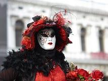 Kostüm im Venedig-Karneval Stockfotos