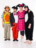 Kostümierte Erwachsene für Theater stockbilder