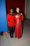 Kostümierte Leute am Bestimmungsort Star Trek in London-Docklands 20 Stockfotografie