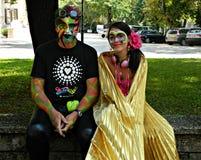 Kostümierte Paare Lizenzfreie Stockfotos
