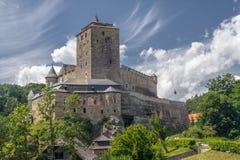 Kost castle in Czech republic. Beautiful clouds in the sky Stock Image