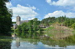 Kost castle view from a pond Stock Image