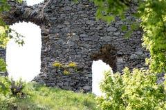 Kostalov城堡的废墟 库存照片