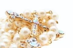 Kostbaar jewelerykruis Royalty-vrije Stock Foto's