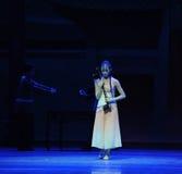Kostbaarst de instrument-eerste handeling van de gebeurtenissen van dans drama-Shawan van het verleden stock afbeelding