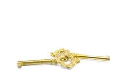 kostbare goldene alte Schlüssel Stockfoto