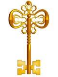 Kostbare gouden sleutel Royalty-vrije Stock Afbeeldingen