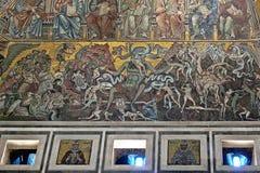 Kostbare mozaïeken in de Doopkapel van San Giovanni in Florence, Italië Stock Fotografie