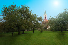 Kostel του αρχαγγέλου του ST Michael, Svabenice Στοκ εικόνα με δικαίωμα ελεύθερης χρήσης