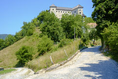 Kostel Castle. Is a castle above the Kolpa River, not far from the Croatian border Stock Images
