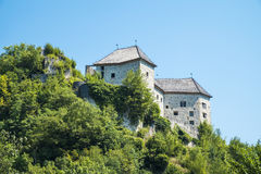Kostel Castle. Is a castle above the Kolpa River, not far from the Croatian border Royalty Free Stock Images