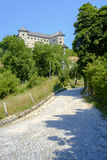 Kostel Castle. Is a castle above the Kolpa River, not far from the Croatian border Royalty Free Stock Image