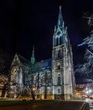 Kostel sv Ludmily on Namesti Miru stock photo