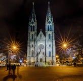 Kostel SV Ludmily su Namesti Miru Fotografie Stock Libere da Diritti