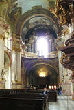 Kostel sv Mikulase - St Nicholas church Prague. Catholic St Nicholas church. In this church , gave a concert young Mozart Royalty Free Stock Images