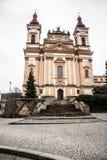 Kostel Zvestovani Panny Marie en la ciudad de Sternberk en República Checa Imagen de archivo