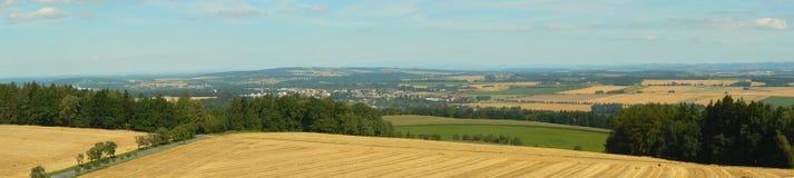 Kostelec nad Orlicà panoramatic взгляд Стоковые Изображения RF