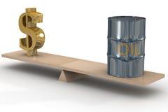 Kosten Ölaktien. stock abbildung