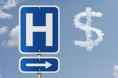 Kosten des Gehens zum Krankenhaus Lizenzfreies Stockfoto