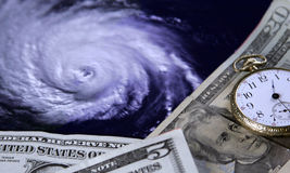 Kosten eines Hurrikans Stockbild