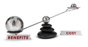 Kosten en voordelen stock illustratie