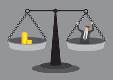 Kosten menschliche Ressourcen-der Begriffsvektor-Illustration Stockbilder