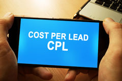 Kosten per lood CPL stock foto's