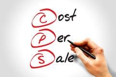 Kosten per Verkoop Stock Afbeelding