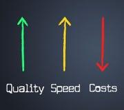 Kosten-Qualität stellt die bestätigten Ausgaben und die Rechnungen dar vektor abbildung