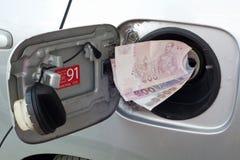 Kosten van brandstof royalty-vrije stock afbeelding