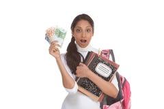 Kosten van de lening van de onderwijsstudent en financiële steun Stock Foto
