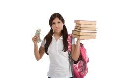 Kosten van de lening van de onderwijsstudent en financiële steun Stock Afbeelding