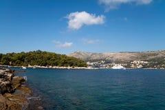 Kosten van Dubrovnik Stock Afbeelding
