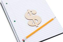 Kosten van een onderwijs Stock Foto