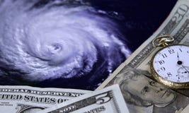 Kosten van een orkaan stock afbeelding