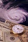 Kosten van een orkaan stock fotografie