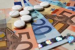 Kosten van geneeskunde Stock Fotografie