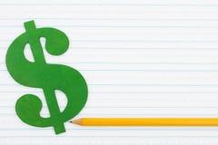 Kosten van onderwijs Stock Foto's