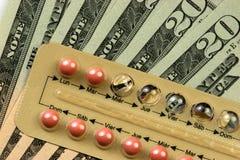 Kosten von Familienplanung Stockbilder