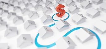 Kosten von Immobilien in den Dollar Lizenzfreie Stockfotos