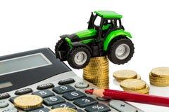 Kostenberekening in landbouw royalty-vrije stock foto's