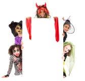 kostiumów Halloween dzieciaki Zdjęcia Royalty Free