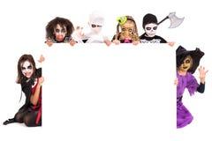 kostiumów Halloween dzieciaki Zdjęcie Royalty Free