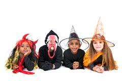 kostiumów Halloween dzieciaki Obraz Stock