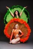 kostiumów tancerzy scena dwa Obraz Royalty Free