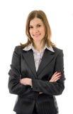 kostium biznesowa uśmiechnięta kobieta Zdjęcia Royalty Free