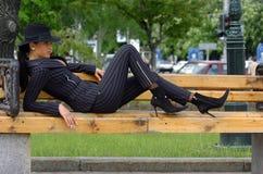 kostium elegancka kobieta Zdjęcia Stock
